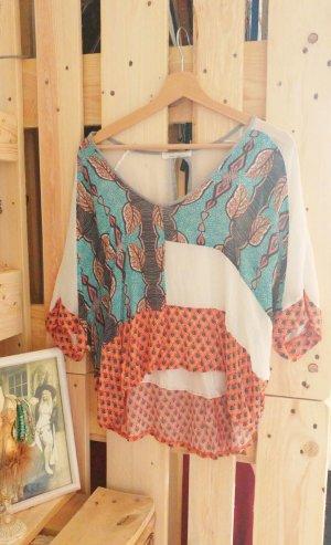 Bunte lässig geschnittene Bluse von Zara