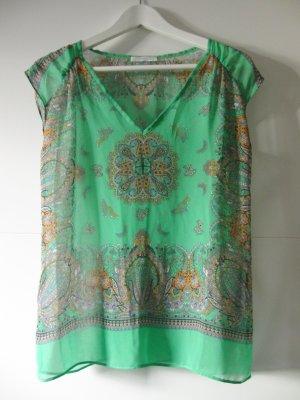 Bunte, leicht transparente Bluse von Promod
