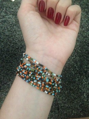 Bunte Perlen Armband