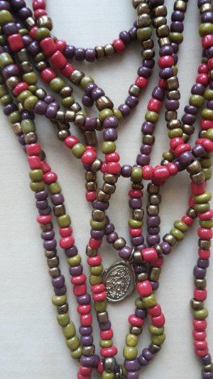 Bunte Perlenkette Yogi Style