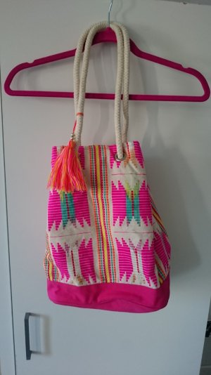 bunte pinke Sommertasche