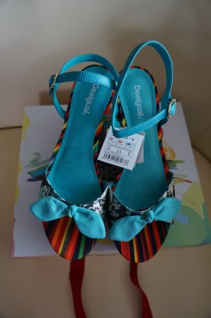 Desigual Wedge Sandals multicolored mixture fibre