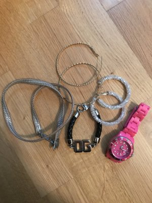 Bunte Schmuckkiste Uhr Armband Creolen