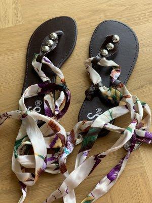 Sandalias romanas multicolor