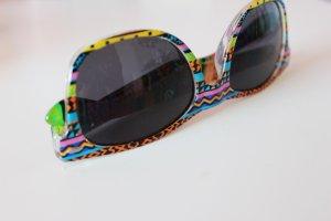 bunte Sonnenbrille mit Aztekenmuster