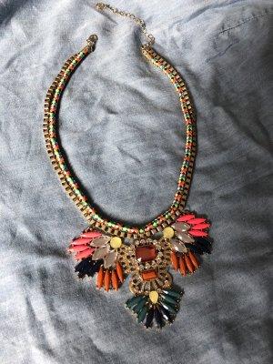 Pieces Collier incrusté de pierres multicolore