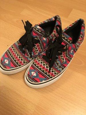 Bunte Stoff - Schuhe