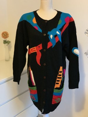 Bunte Strickjacke Strickmantel