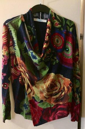 Desigual Giacca in maglia multicolore