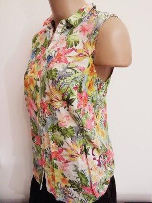 bunte tropische Blumen Bluse von Esprit Größe M
