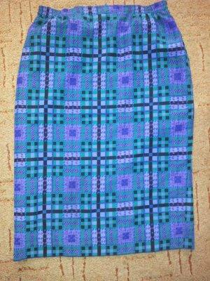 bunten Rock blau lila grün kariert Gr. 40