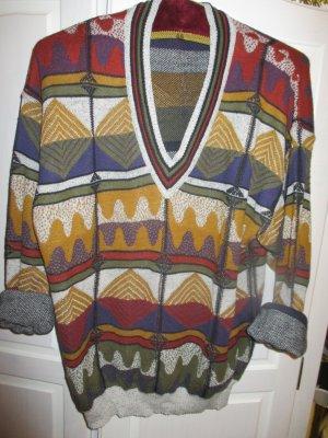Bunter Baumwoll-Pullover