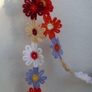 Crochet Scarf multicolored polyacrylic