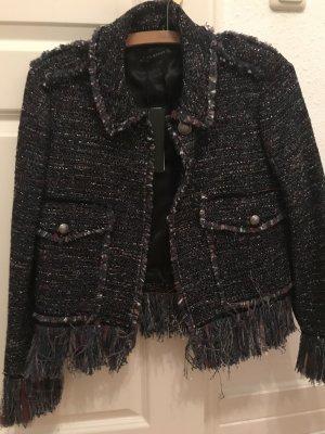 Zara Blazer en tweed multicolore polyester
