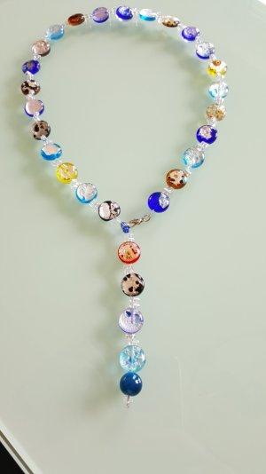 Bunter Mix Halskette, ein leuchtender Hingucker
