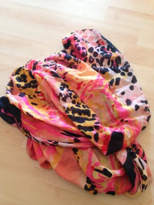 Pieces Doek magenta-geel