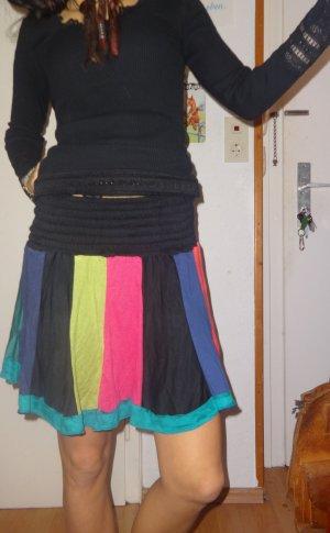 Mini rok zwart-grasgroen