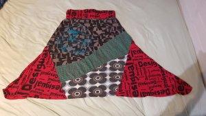 Desigual Falda de talle alto multicolor