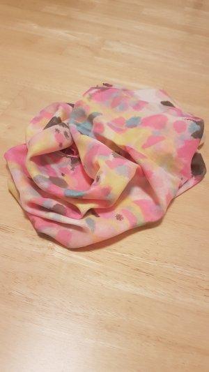 Écharpe ronde multicolore fibre synthétique