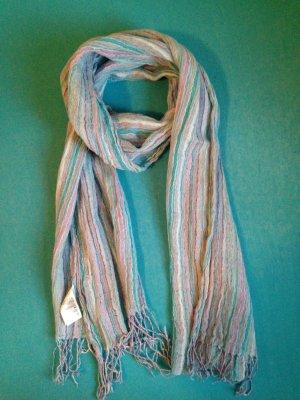 H&M Bufanda de flecos multicolor Lino