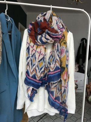 H&M Chal veraniego blanco-azul