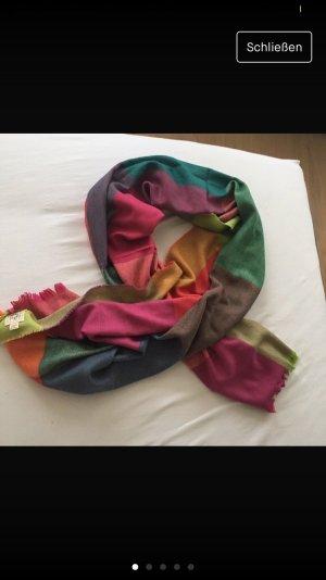 Bunter Schal aus Irland mit Cashmere