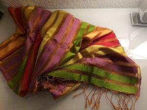 Bunter Schal aus Seide