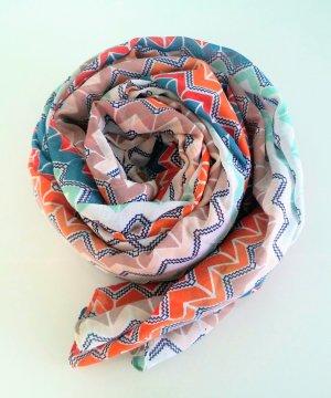 bunter Schal mit Muster von Pieces