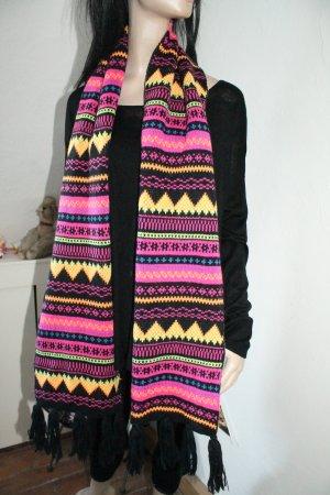 bunter Schal * tolle Farben * super Muster * kaum getragen *