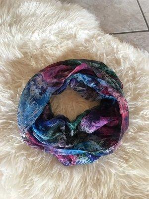 Bufanda de seda rosa-azul