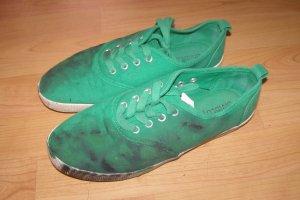 Bunter Schuh (grün) - UNIKAT