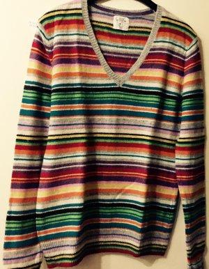 Bunter Streifen Pullover