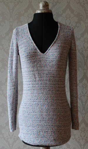 Maglione lavorato a maglia multicolore Cotone