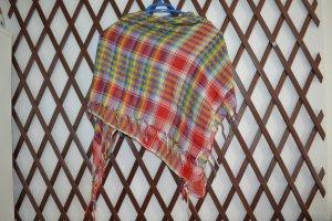 Sjaal met franjes veelkleurig Katoen