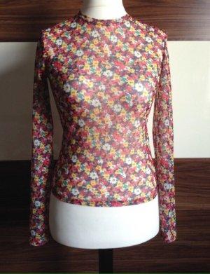 Pull & Bear Mesh Shirt multicolored