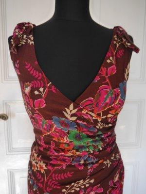Buntes Boho Kleid Wickeloptik V-Ausschnitt