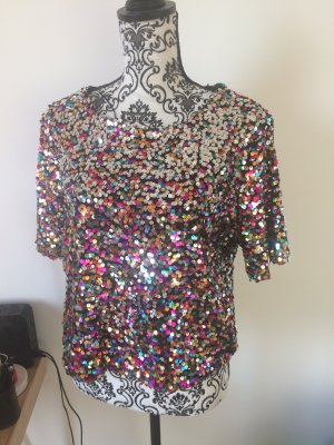 Buntes Glitzershirt H&M