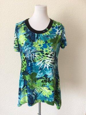 buntes / grün / blaues Longshirt /Shirt von Canda - Gr. S, wenig getragen