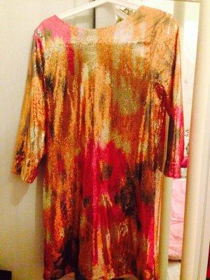 Buntes Kleid aus Pailletten