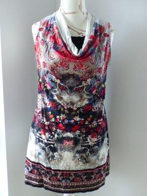 buntes Kleid / Longtop / ärmelloses T-Shirt von Comma - Gr. 40