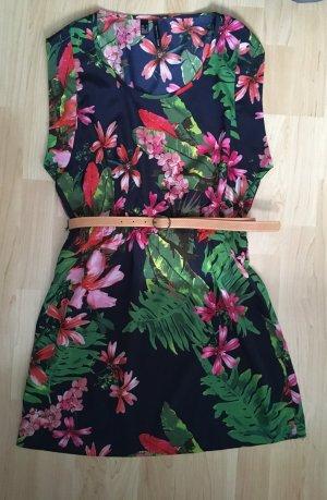 Mango Shortsleeve Dress multicolored