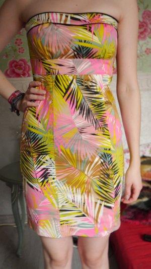 H&M Vestido strapless multicolor tejido mezclado