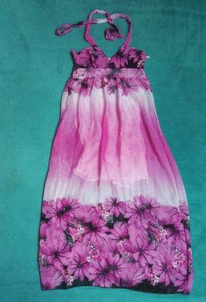 no name Halter Dress pink-black