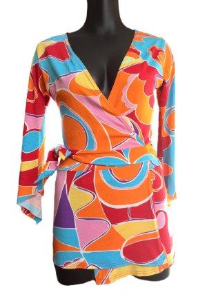 Wraparound Shirt multicolored viscose