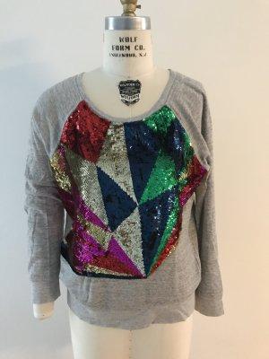 Buntes Pailetten Sweatshirt im grafischen Muster von Nico