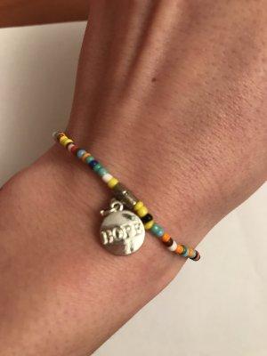 Buntes Perlenarmband 'Hope'