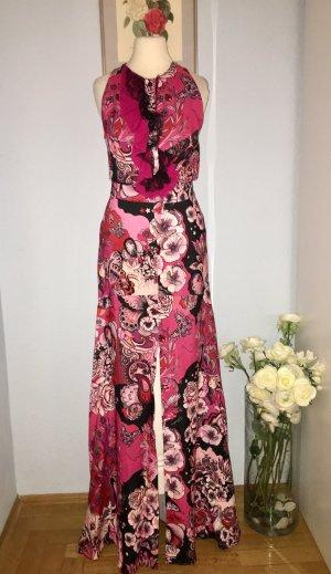 Buntes rosa Maxikleid JustCavalli