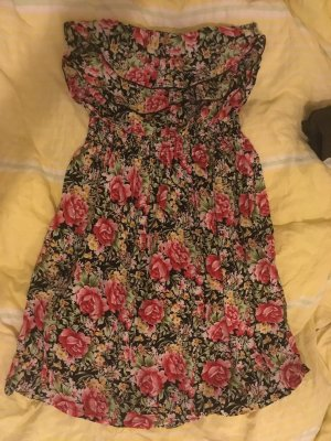 Buntes sexy trägerloses Sommerkleid