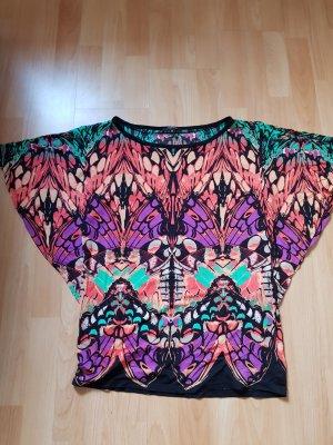 buntes Shirt mit Fledermausärmeln