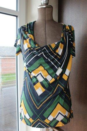 buntes Shirt / T-Shirt kurzarm mit Wasserfallausschnitt von Promiss